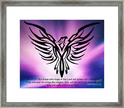 On The Wings Of Eagles Framed Print