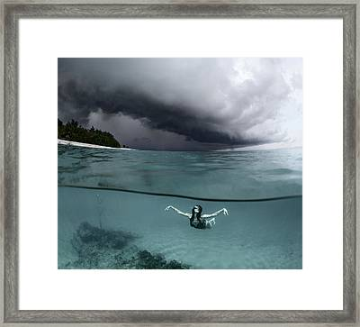 On The Wings Of The Storm Framed Print
