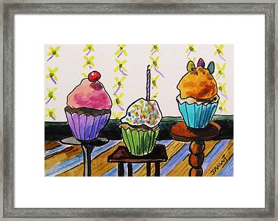 On Three Stands Framed Print