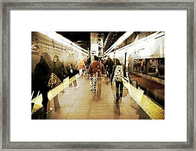On Time Framed Print by Diana Angstadt