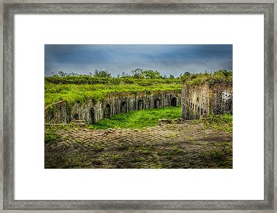On Top Of Fort Macomb Framed Print by David Morefield