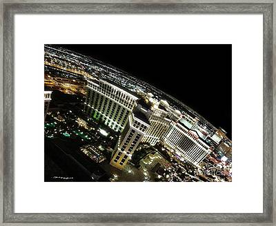 On Top Of Las Vegas Framed Print by Christine Mayfield