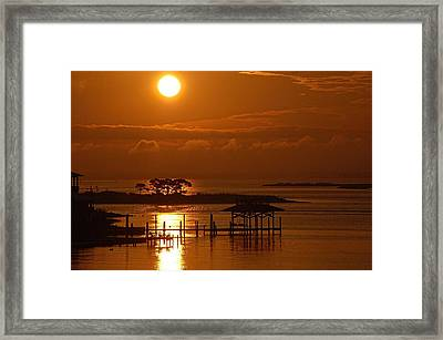 Framed Print featuring the digital art On Top Of Tacky Jacks Sunrise by Michael Thomas