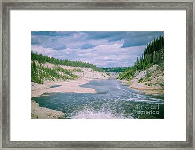 On Top Of The Falls Framed Print by Lisa Killins