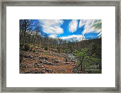 On Top Of The Mountain Framed Print by Paul Ward