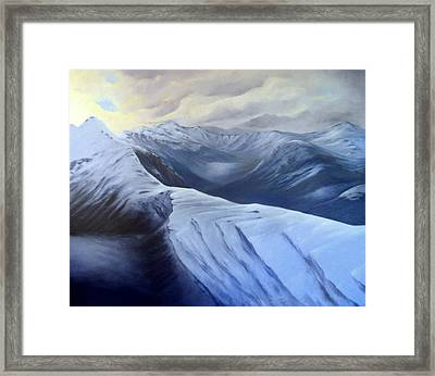 On Top Of The Pass Framed Print by Dawson Taylor