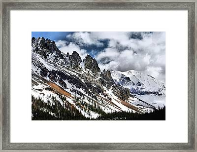 On Top Of The Rockies Framed Print by Rebecca Adams