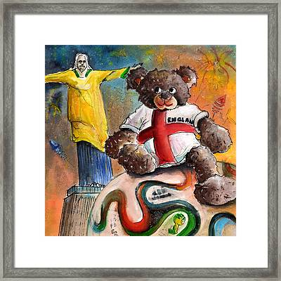 On Top Of The World Cup Framed Print by Miki De Goodaboom