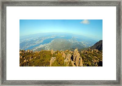 On Top Of The World Tasmania Framed Print
