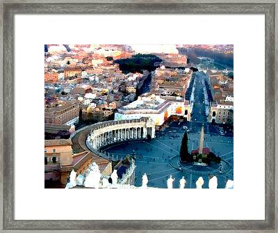 Framed Print featuring the digital art On Top Of Vatican 1 by Brian Reaves