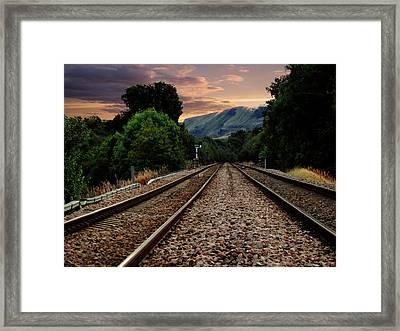 On Track. Framed Print