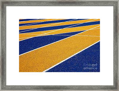 Framed Print featuring the photograph On Track by Ethna Gillespie