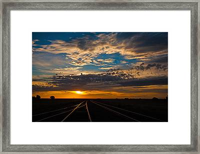 On Track Framed Print by Shirley Heier