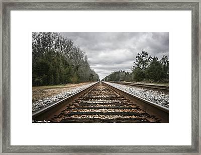 On Track Framed Print by Steven  Taylor
