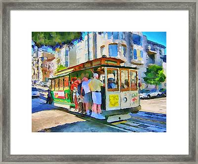 On Tram In San Francisco Framed Print by Yury Malkov