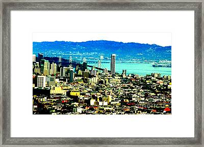 On Twin Peaks Over Looking The City By The Bay II Framed Print by Jim Fitzpatrick
