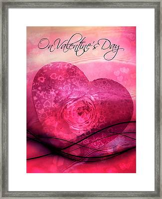 On Valentine's Day Framed Print by Shirley Sirois