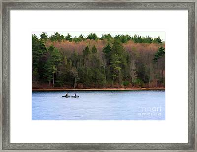 On Walden Pond Framed Print by Jayne Carney
