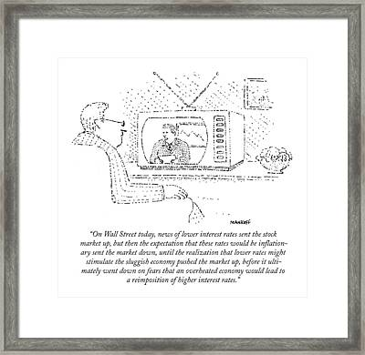 On Wall Street Today Framed Print