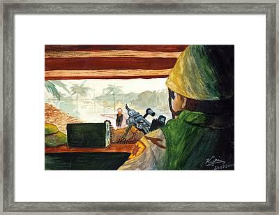 Bunker Guard Framed Print by Annette Redman