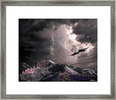 On Wings Of Eagles Framed Print