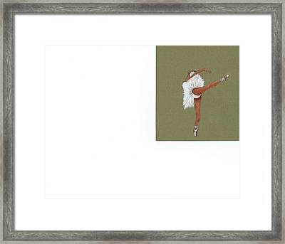 On Your Toes Framed Print by Catherine Swerediuk