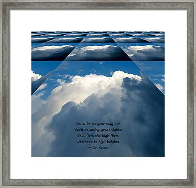 On Your Way Up Framed Print by Pete Trenholm