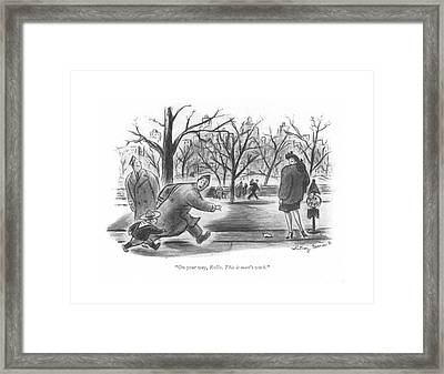 On Your Way Framed Print by Whitney Darrow, Jr.