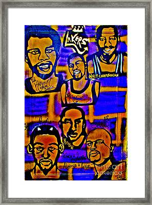 Once A Laker... Framed Print by Tony B Conscious