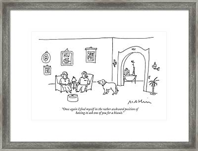 Once Again I Find Myself In The Rather Awkward Framed Print by Michael Maslin