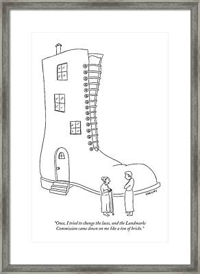 Once, I Tried To Change The Laces Framed Print
