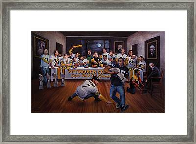 Once In A Blue Moon Framed Print by Frederick Carrow