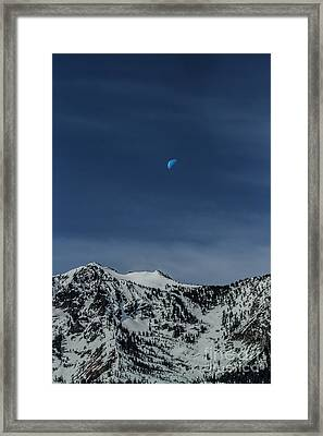 Once In A Blue Moon Framed Print by Mitch Shindelbower