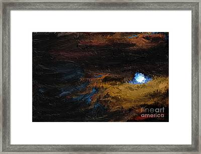 Once In A Blue Moon Framed Print by Nancy TeWinkel Lauren