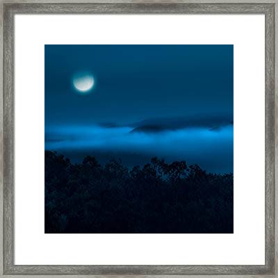 Once In A Blue Moon Square Framed Print by Bill Wakeley