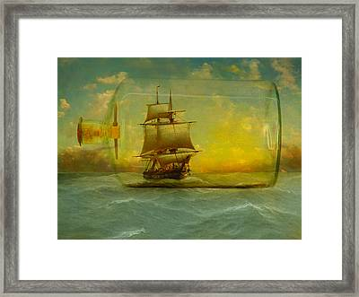 Once In A Bottle Framed Print by Jeff Burgess