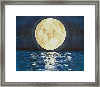 Once In A Very Blue Moon Framed Print by Cindy Micklos