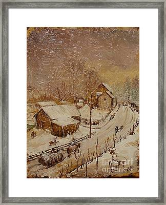 Once In Azuga Framed Print by Sorin Apostolescu