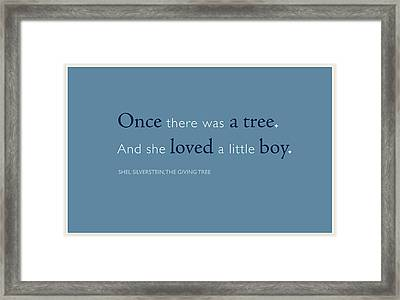 Once There Was A Tree... Framed Print by Tania L