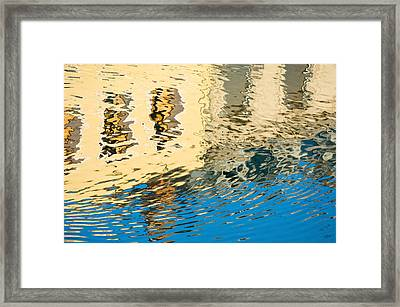 Once Upon A Canal Framed Print by Joan Herwig