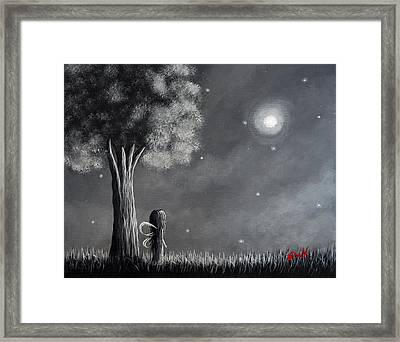 Once Upon A Dreamy Night Original Fairy Art Framed Print