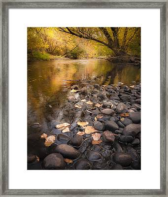Once Upon A Fall Framed Print by Michael Van Beber