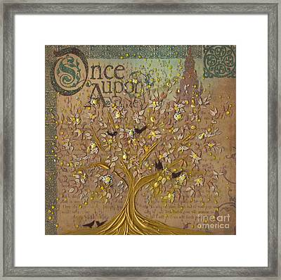 Once Upon A Golden Garden By Jrr Framed Print
