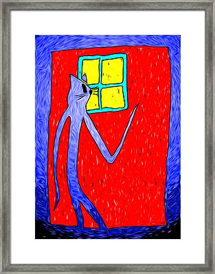 Once Upon A Midnight Prowl Framed Print by e9Art