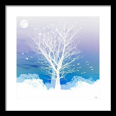 Moon Framed Prints