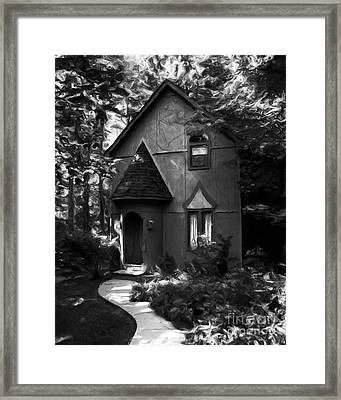 Once Upon A Time Bw Framed Print by Mel Steinhauer
