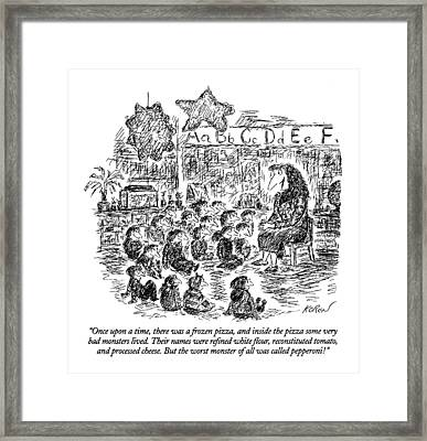 ?once Upon A Time Framed Print