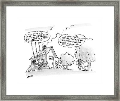 Once Upon A Time Framed Print by Jack Ziegler