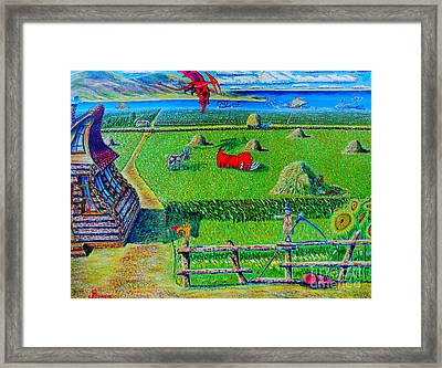 Framed Print featuring the painting Once Upon A Time.arts For Kids by Viktor Lazarev
