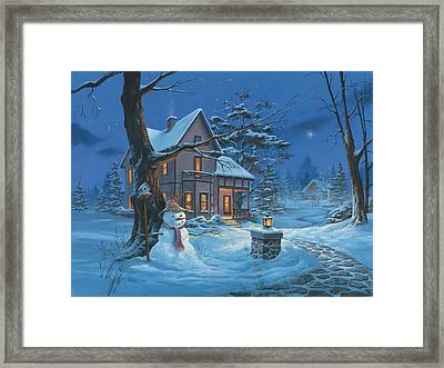 Once Upon A Winter's Night Framed Print by Michael Humphries